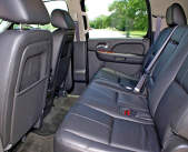 Backseat of Chevrolet Suburban executive SUV from Echo Limousine in Chicago, IL