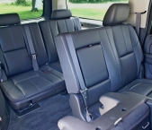 inside SUV limo rental