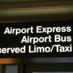 O'Hare Airport limo and taxi area