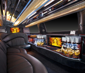 Lincoln stretch limousine interior from Echo Limousine in Chicago, IL