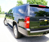 Rear view of Chevrolet Suburban from car and limo service company Echo Limousine in Chicago, IL