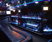 Enjoy our stocked bar in our limo rentals!