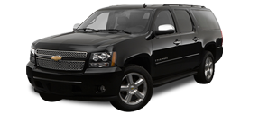 Front view of Chevrolet Suburban used for car service by Echo Limousine in Chicago, IL