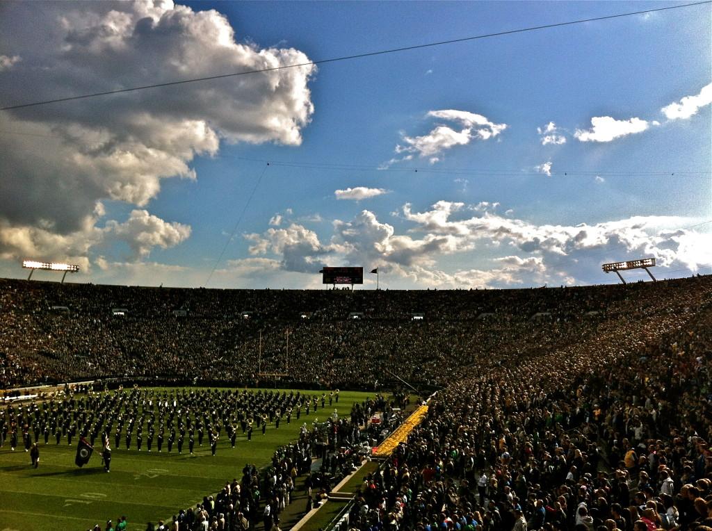 Notre Dame Stadium limo service chicago