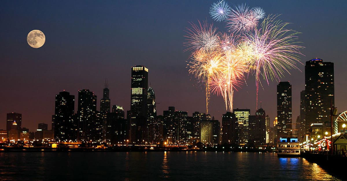 Fireworks-Lake-Michigan-Chicago