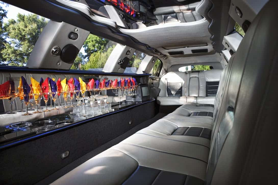 Image of a limousine interior driven by Echo Limousine in Chicago, IL