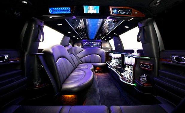 Image of a limo interior owned by Echo Limousine in Chicago, IL
