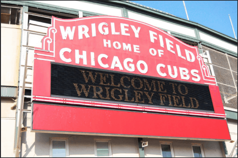 Image of the entrance to Wrigley Field, one of the major destinations for Echo Limousine in Chicago, IL