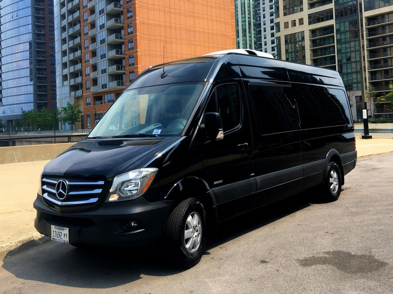Luxury Springer Mercedes van offered by Echo Limousine in Chicago, IL